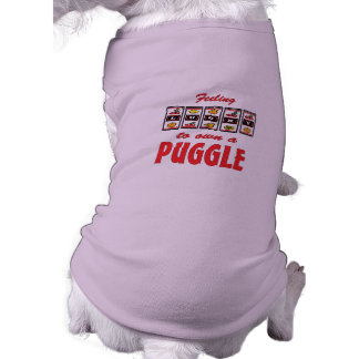 Lucky to Own a Puggle Fun Dog Design Pet T-shirt
