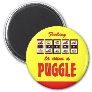 Lucky to Own a Puggle Fun Dog Design Magnet