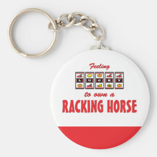 Lucky to Own a Racking Horse Fun Design Keychain