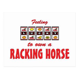 Lucky to Own a Racking Horse Fun Design Postcard