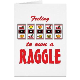 Lucky to Own a Raggle Fun Dog Design Cards