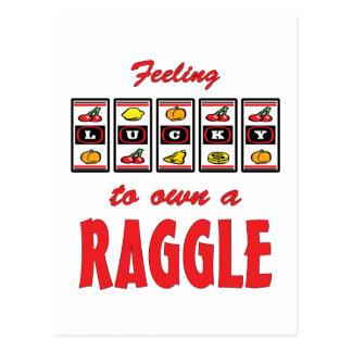 Lucky to Own a Raggle Fun Dog Design Post Card