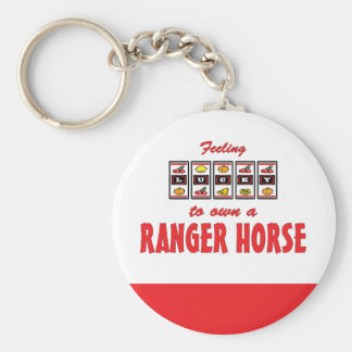 Lucky to Own a Ranger Horse Fun Design Keychain