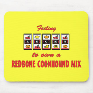 Lucky to Own a Redbone Coonhound Mix Fun Design Mouse Pad