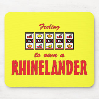 Lucky to Own a Rhinelander Fun Horse Design Mouse Pad