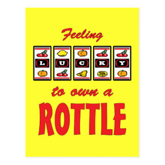 Lucky to Own a Rottle Fun Dog Design Postcard
