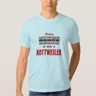 Lucky to Own a Rottweiler Fun Dog Design T-shirt