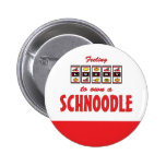 Lucky to Own a Schnoodle Fun Dog Design Pinback Button