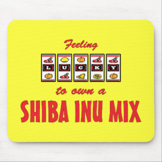 Lucky to Own a Shiba Inu Mix Fun Dog Design Mouse Pad