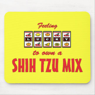 Lucky to Own a Shih Tzu Mix Fun Dog Design Mouse Pad