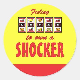 Lucky to Own a Shocker Fun Dog Design Classic Round Sticker