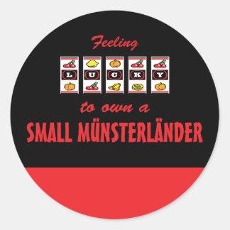 Lucky to Own a Small Münsterländer Fun Dog Design Classic Round Sticker