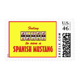 Lucky to Own a Spanish Mustang Fun Horse Design Postage Stamps