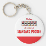 Lucky to Own a Standard Poodle Fun Dog Design Keychains