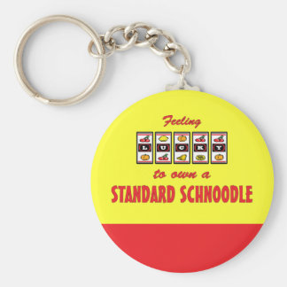 Lucky to Own a Standard Schnoodle Fun Dog Design Keychain