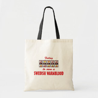 Lucky to Own a Swedish Warmblood Fun Horse Design Canvas Bag