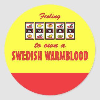 Lucky to Own a Swedish Warmblood Fun Horse Design Stickers