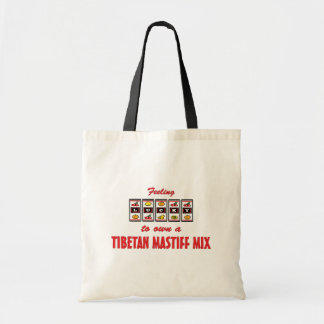 Lucky to Own a Tibetan Mastiff Mix Fun Dog Design Tote Bag