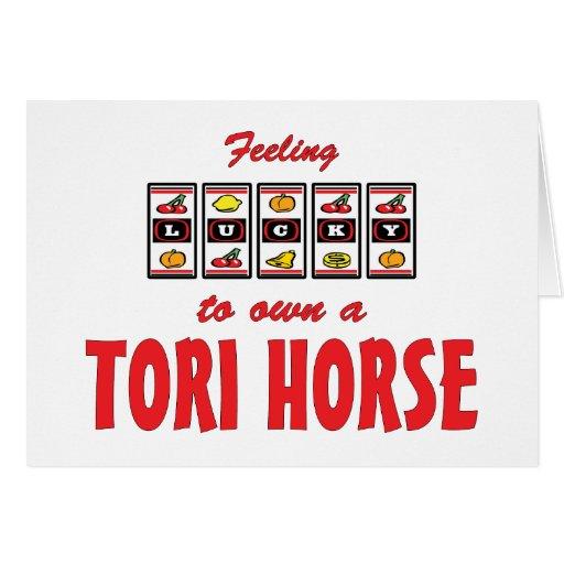 Lucky to Own a Tori Horse Fun Design Cards