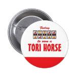 Lucky to Own a Tori Horse Fun Design Pins