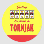 Lucky to Own a Tornjak Fun Dog Design Sticker