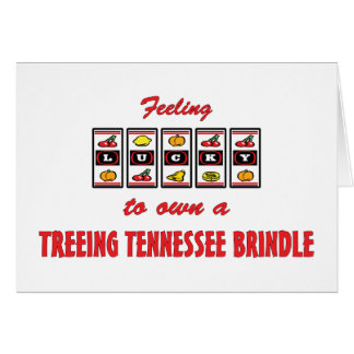 Lucky to Own a Treeing Tennessee Brindle Greeting Card
