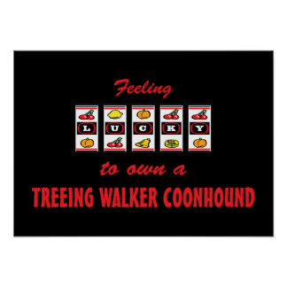 Lucky to Own a Treeing Walker Coonhound Poster
