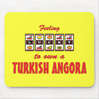Lucky to Own a Turkish Angora Fun Cat Design Mouse Pad