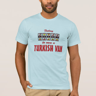 Lucky to Own a Turkish Van Fun Cat Design T-Shirt