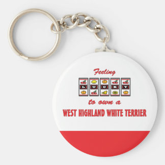 Lucky to Own a West Highland White Terrier Keychain