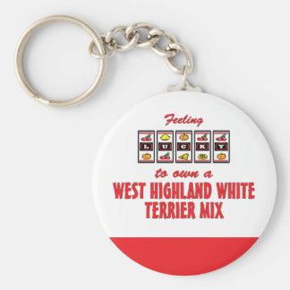Lucky to Own a West Highland White Terrier Mix Basic Round Button Keychain