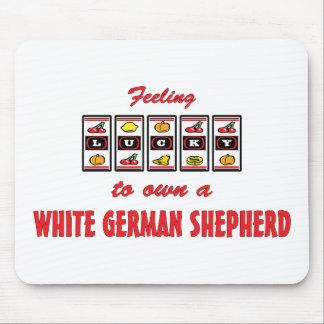 Lucky to Own a White German Shepherd Fun Design Mouse Pad