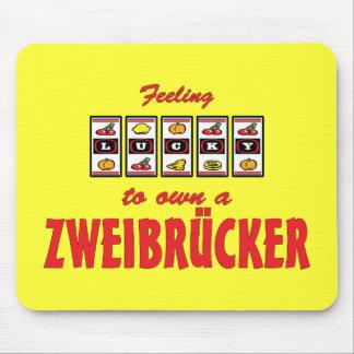 Lucky to Own a Zweibrücker Fun Horse Design Mouse Pad