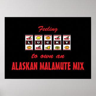 Lucky to Own an Alaskan Malamute Mix Fun Design Print