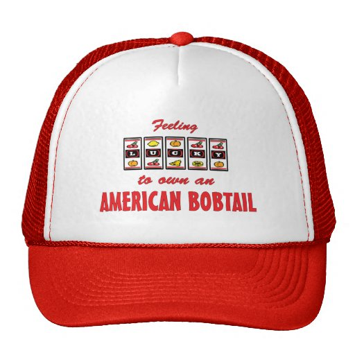 Lucky to Own an American Bobtail Fun Cat Design Trucker Hat
