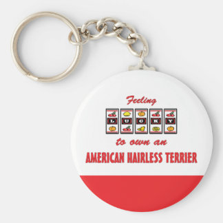 Lucky to Own an American Hairless Terrier Key Chains