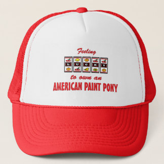 Lucky to Own an American Paint Pony Fun Design Trucker Hat