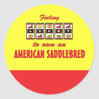 Lucky to Own an American Saddlebred Fun Design Classic Round Sticker