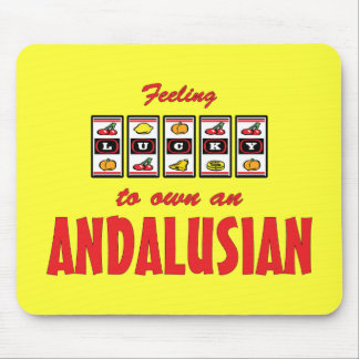 Lucky to Own an Andalusian Fun Horse Design Mouse Pad
