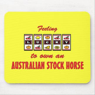 Lucky to Own an Australian Stock Horse Fun Design Mouse Pad