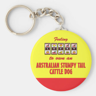Lucky to Own an Australian Stumpy Tail Cattle Dog Key Chain