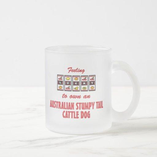 Lucky to Own an Australian Stumpy Tail Cattle Dog Mugs