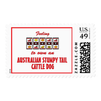 Lucky to Own an Australian Stumpy Tail Cattle Dog Postage Stamp