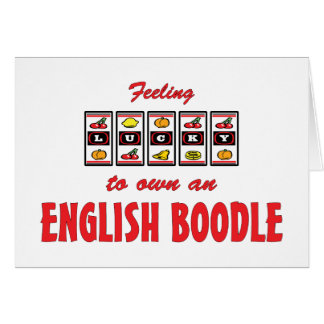 Lucky to Own an English Boodle Fun Dog Design Cards