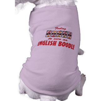 Lucky to Own an English Boodle Fun Dog Design Doggie T Shirt