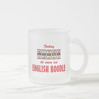 Lucky to Own an English Boodle Fun Dog Design Coffee Mugs