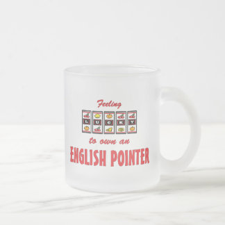 Lucky to Own an English Pointer Fun Dog Design Frosted Glass Coffee Mug