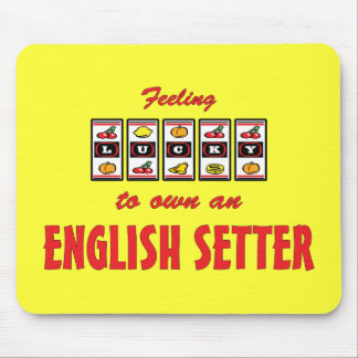 Lucky to Own an English Setter Fun Dog Design Mouse Pad