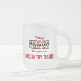 Lucky to Own an English Toy Terrier Fun Dog Design Mug