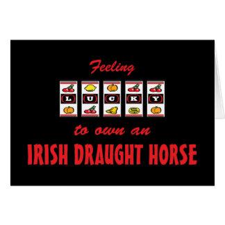 Lucky to Own an Irish Draught Horse Fun Design Card